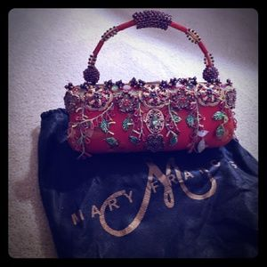 Mary Frances Red Beaded Evening Bag